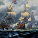 Battle of Hudson Bay 1697 Painting